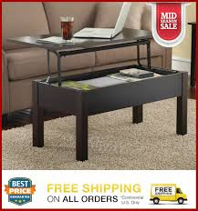 wood lift top coffee end table
