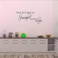 Amazon Com Empresal This Kitchen Is Seasoned With Love Wall Quote Wall Decals Wall Decal Wall Sticker Home Kitchen