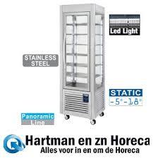 SNE/SB-A5 - Panoramische vitrine, 5 niveaus, 360 LT, RVS. DIAMOND |  Gekoelde of vries uitstalvitrine | Hartman en zn Horeca Service