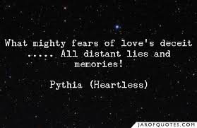 what mighty fears of love s deceit all distant lies and