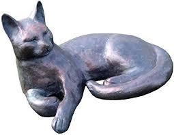 classic cat garden statue ornament