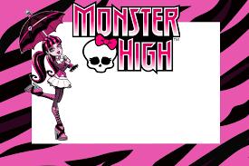 Invitaciones De Monster High Para Cumpleanos Invitaciones De