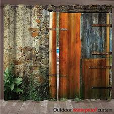 patio outdoor curtain old french wooden