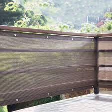 Privacy Fence Screen Cover For Balcony Porch Verandah Deck Patio Backyard Windscreen Covering Fabric Railing Up To 90 95 Blockage Brown Size 4mx4m Amazon Co Uk Kitchen Home