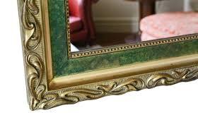 antique art nouveau gilt overmantle