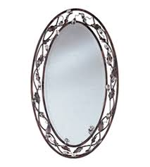 oil rubbed bronze wall mirror oval