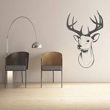 Wall Decal Deer Head Decal Vinyl Decor Wall Decal Customvinyldecor Com