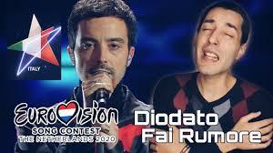 Diodato - Fai Rumore (Italy Eurovision 2020) REACTION - YouTube