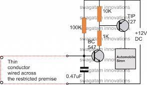 5 simple burglar alarm circuits for