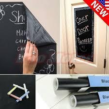 Blackboard Removable Vinyl Wall Sticker Chalkboard Decal Chalk Board 200 45cm For Sale Online Ebay