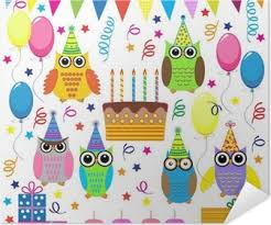 Poster Kindergeburtstag - Kinder bläst Kerzen auf Kuchen • Pixers ...