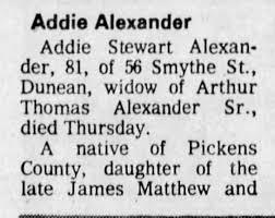 Addie Stewart obituary 1-1 - Newspapers.com