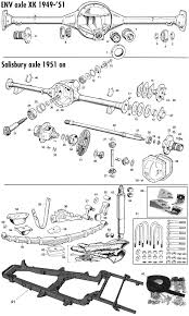 jaguar xk120 140 150 rear suspension