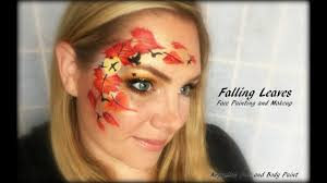 falling leaves face painting and