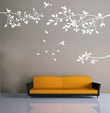Amazon Com Kiki Monkey Elegant Tree And Birds Wall Decal Art Branch Wall Sticker Living Room Decoration White Xl Home Kitchen
