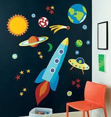 Pin De Christine Han En Space Cowboy Murales De Ninos Y Ninas Murales De Pared Para Ninos Tema Espacial
