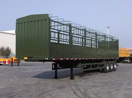 40ft 3 Axle Fence Drop Side Trailer Cimc Vehicles