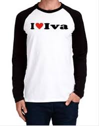 I Love Iva V-Neck T-Shirt