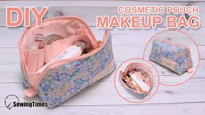 diy makeup pouch bag 꽃무늬 메이크업
