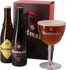 westmalle gift pack 2 beers 1 gl