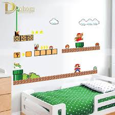 Super Mario Wall D Stickers For Children Room Hot Popular Games Independence