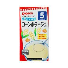 Bột ăn dặm vị ngô Pigeon Nhật Bản 10 gói (Cho bé từ 5 tháng)