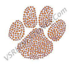 Paw Print Car Decal 12 00 Vs Rhinestone Designs Radiant Rhinestone Transfers Designs And Apparel