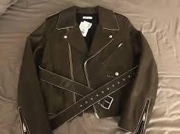 new celine biker style leather jacket