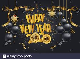 Happy New Year 2020 Stock Vector Images ...