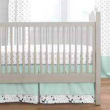 mint and gray baby woodland crib