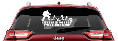 Hulk Smash Your Puny Stick Figure Family Vinyl Decal Anti Stick Figure Family Decals