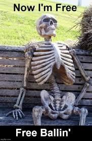 skeleton waiting memes gifs flip