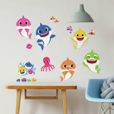 Baby Shark Peel And Stick Wall Decals Entertainment Earth