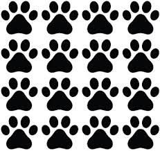 Amazon Com Cmi356 Dog Paw Prints Vinyl Decal Sticker For Walls Electronics Black 16 Automotive