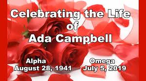 Celebration of Life Ada Campbell on Vimeo