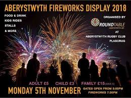 aberystwyth town fireworks display 2018
