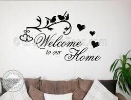 Welcome To Our Home Quote Family Wall Sticker With Birds Hearts Wall Art Decal Ebay