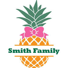 Personalized Name Vinyl Decal Sticker Custom Initial Wall Art Personalization Decor Pineapple Fruit Family Last Name Welcome Sign Bow 20 Inches X 20 Inches Walmart Com Walmart Com