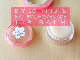 10 minute natural homemade lip balm