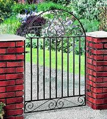 marlborough arched metal garden gate