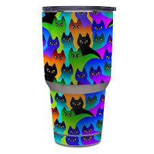 Yeti Rambler 30 Oz Tumbler Skin Rainbow Cats By Dan Morris Decalgirl