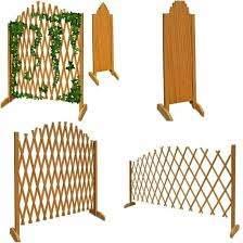 Wooden Garden Fence Panels Outdoor Patio Fencing Folding Plants Flower Trellis Garden Fence Panels Fence Panels Garden Fence