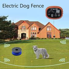 2 Dog Electric Fence System In Ground Diy Containment With 650 Ft Wire Receiver Send Beeps And Shock Correction Yo Dog Fence Invisible Fence Electric Fence