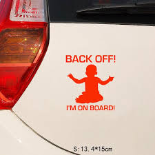 Nakleyki Car Stickers Funny Back Off I M On Board Vinyl Sticker For Auto Accessories Cars Styling Buy At A Low Prices On Joom E Commerce Platform