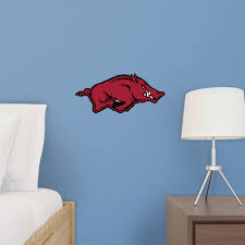 Arkansas Razorbacks Logo Large Officially Licensed Removable Wall Decal In 2020 Removable Wall Decals Removable Wall Wall Decals
