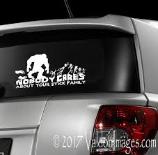 Bigfoot Chasing Stick Family Bigfoot Car Decal By Valdonimages Washington Sasquatch Funny Carstickers Bigfoot Bigfoot Photos Stick Family