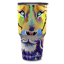 King Of Technicolor Yeti Rambler Tumbler 30oz Skin Istyles