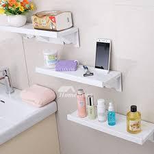 abs plastic white bathroom wall shelf