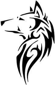 Amazon Com Tribal Wolf Silhouette 6 Vinyl Sticker Car Decal 6 White Automotive