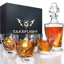 whiskey decanter set whiskey glasses